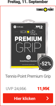 Tennis-Point Overgrips Premium Grip 12er Pack - Weiß
