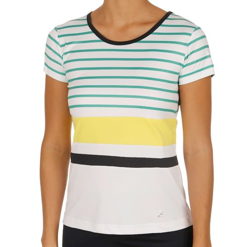 Fila Performance Summer T-Shirt Women - White, Green