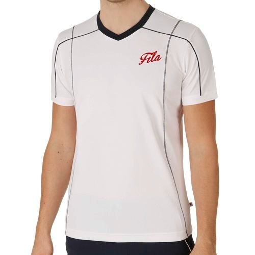 Fila Performance Ron T-Shirt Men - White, Dark Blue
