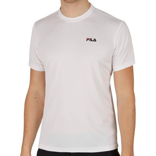 Fila Logo Logo T-Shirt Men - White