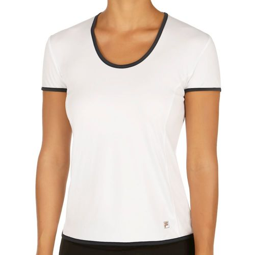 Fila Performance Tora T-Shirt Women - White, Dark Blue