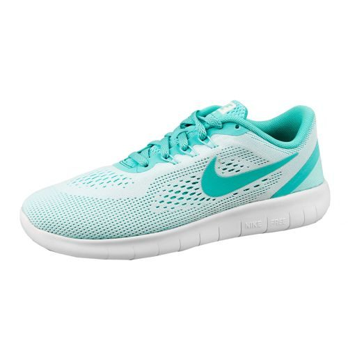 Nike Free RN (GS) Natural Running Shoe - White, Turquoise