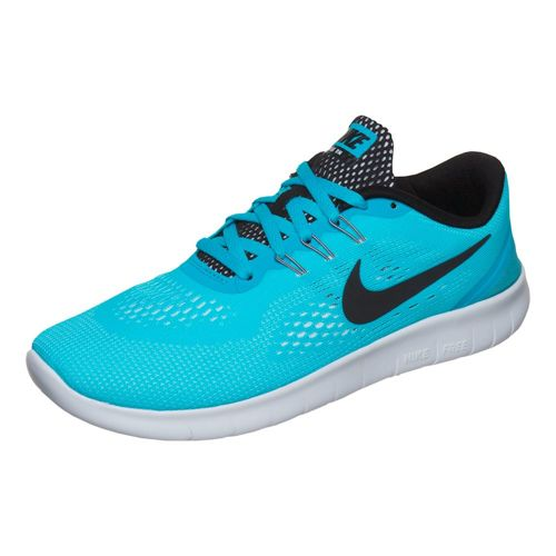 Nike Free RN (GS) Natural Running Shoe - Light Blue, Black