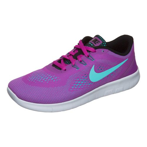 Nike Free RN (GS) Natural Running Shoe - Violet, Turquoise