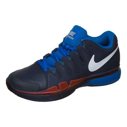 Nike Roger Federer Zoom Vapor 9.5 Tour Clay Court Shoe Men - Dark Blue, Red