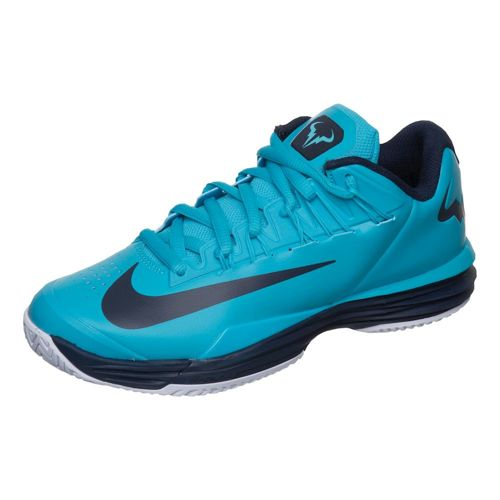 Nike Rafael Nadal Lunar Ballistec 1,5 LG Quickstrike Limited Edition All Court Shoe Kids - Turquoise, Dark Blue
