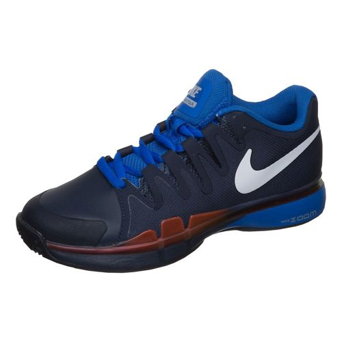 Nike Roger Federer Zoom Vapor 9.5 Tour Clay Court Shoe Kids - Dark Blue, Red
