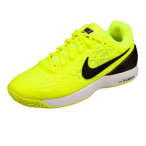 Nike Zoom Cage 2 EU All Court Shoe Kids - Neon Yellow, Black