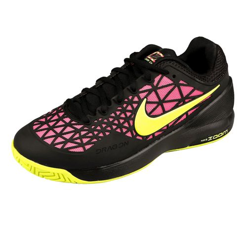 Nike Zoom Cage 2 EU All Court Shoe Women - Black, Neon Yellow