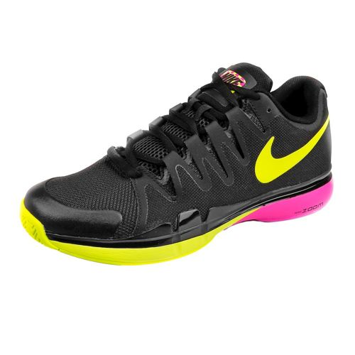 Nike Roger Federer Zoom Vapor 9.5 Tour All Court Shoe Men - Black, Neon Yellow