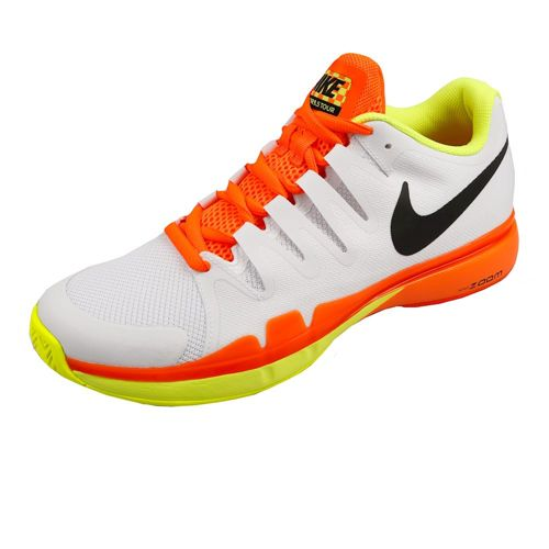 Nike Roger Federer Zoom Vapor 9.5 Tour All Court Shoe Men - White, Neon Orange
