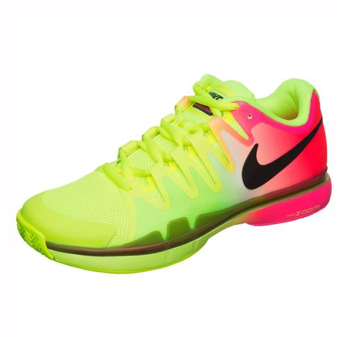 Nike Roger Federer Air Zoom Vapor 9.5 Tour All Court Shoe Men - Neon Yellow, Black
