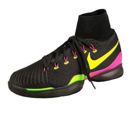 Nike Air Zoom Ultrafly All Court Shoe Men - Black, Neon Yellow