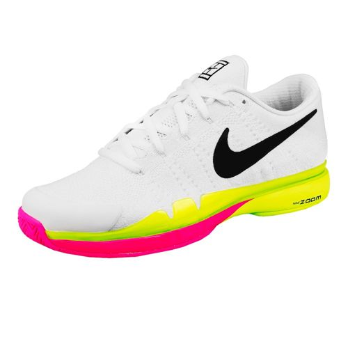 Nike Roger Federer Zoom Vapor 9,5 Tour Flyknit Quickstrike LE All Court Shoe Men - White, Neon Yellow