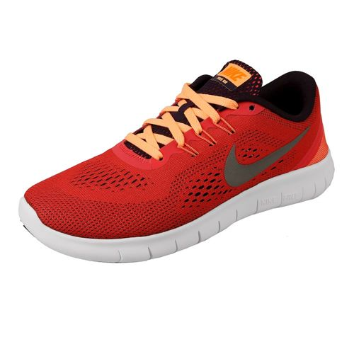 Nike Free RN (GS) Natural Running Shoe Kids - Orange, Silver
