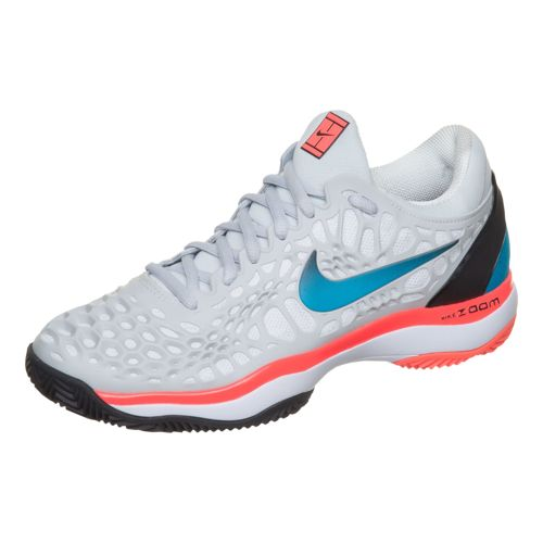 Nike Zoom Cage 3 Clay Court Shoe Women - Lightgrey, Coral