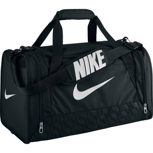 Nike Brasilia 6 Sports Bag Small - Black, White