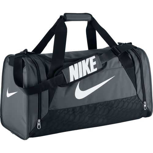 Nike Brasilia 6 Duffel Sports Bag Medium - Grey, Black