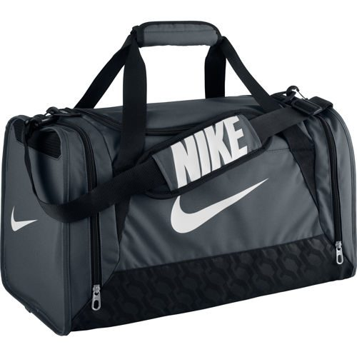 Nike Brasilia 6 Duffel Sports Bag Small - Grey, Black