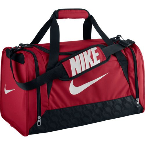Nike Brasilia 6 Duffel Sports Bag Small - Red, Black