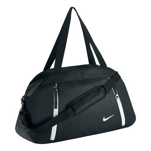 Nike Auralux Solid Club Sports Bag - Black, White