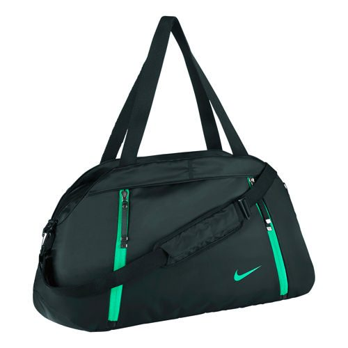 Nike Auralux Solid Club Sports Bag - Black, Green