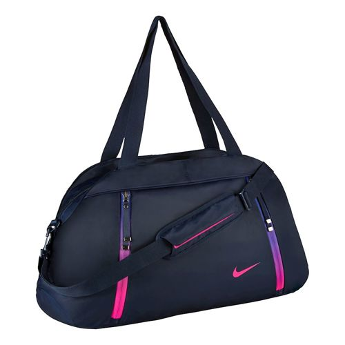 Nike Auralux Solid Club Sports Bag - Dark Blue, Pink