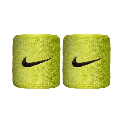 Nike Swoosh Wristband 2 Pack - Neon Yellow, Black