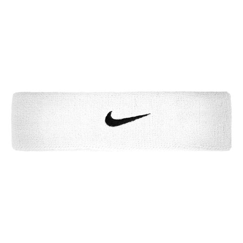 Nike Swoosh Headband Head Band - White, Black