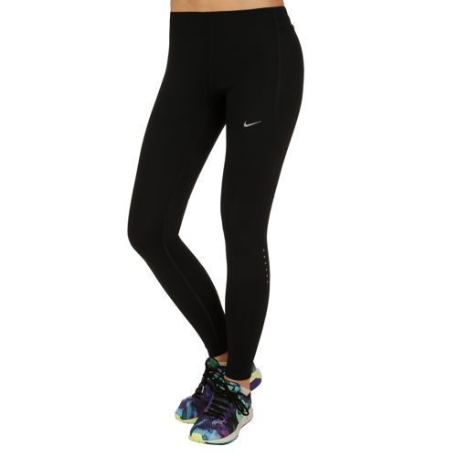 Nike Power Tech Leggings Women - Black, Silver