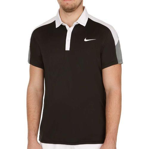 Nike Team Court Polo Men - Black, White