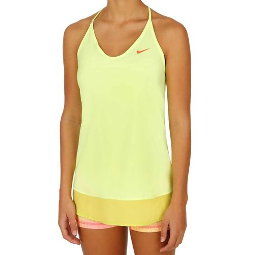 Nike Serena Williams Slam Tunic Top Women - Neon Yellow