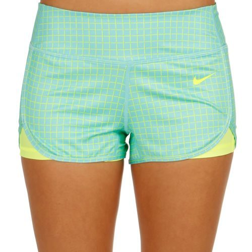 Nike Court Printed Short Ball Shorts Women - Turquoise