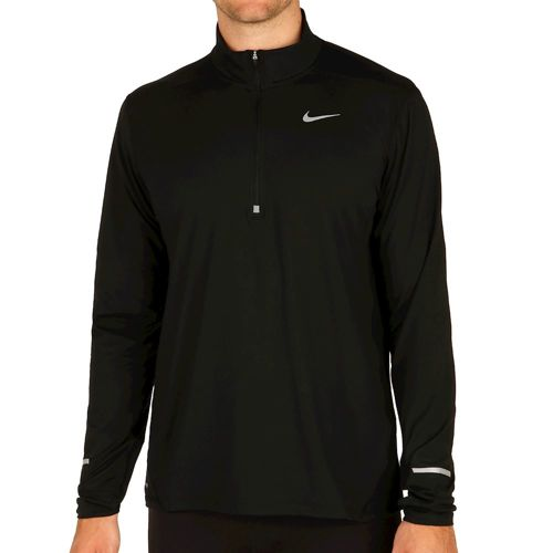 Nike Dri Fit Elet Half Zip Long Sleeve Men - Black, Silver