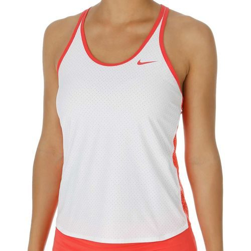 Nike Advantage Slam Printed Breathe Tank Top Women - White, Neon Pink