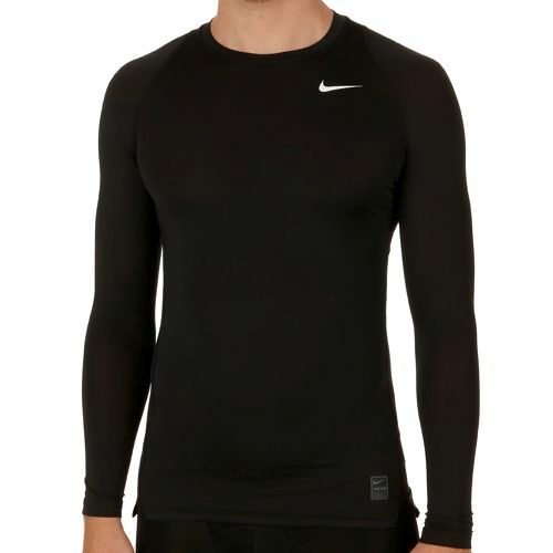 Nike Pro Dry Fit Compression Long Sleeve Men - Black, Grey