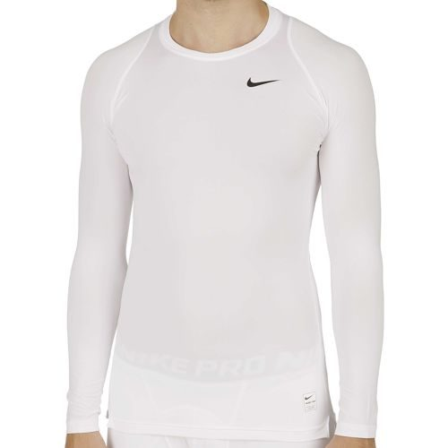 Nike Pro Compression Compression Long Sleeve Men - White, Grey