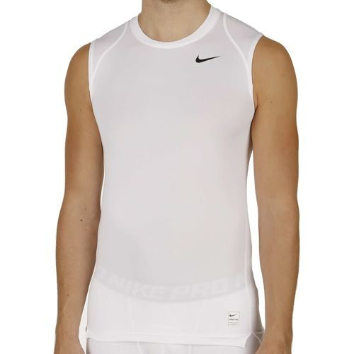 Nike Pro Dry Fit Compression Top Sleeveless Men - White, Silver