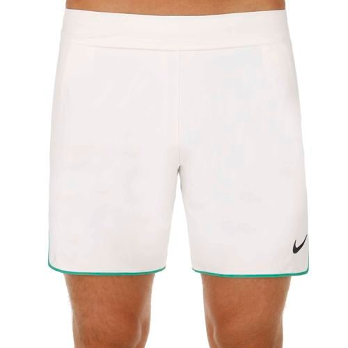 "Nike Roger Federer Gladiator Premier 7"" Shorts Men - White, Green"