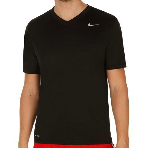 Nike Legend V-Neck T-Shirt Men - Black, Silver