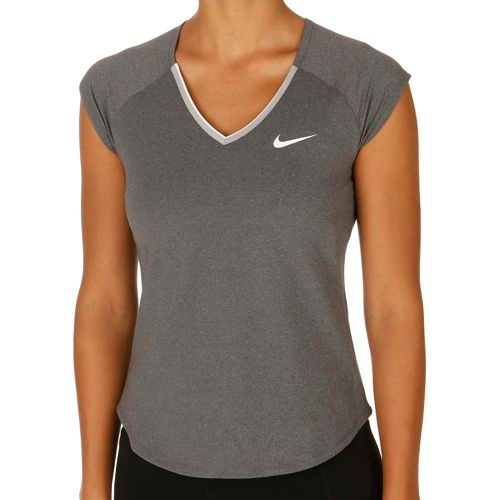 Nike Pure Short Sleeve Women - Dark Grey, White