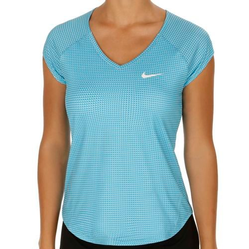 Nike Pure Printed Shortsleeve T-Shirt Women - Blue, White