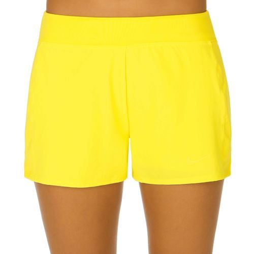 Nike Baseline Long Shorts Women - Yellow