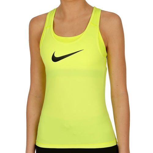 Nike Pro Cool Tank Top Women - Neon Yellow, Black