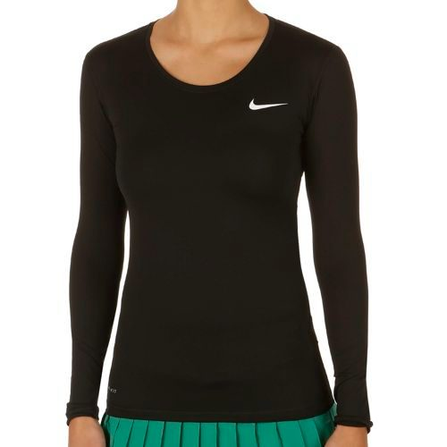 Nike Court Long Sleeve Women - Black, White