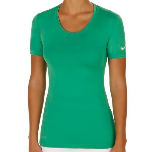 Nike Pro Dry Fit T-Shirt Women - Green, White