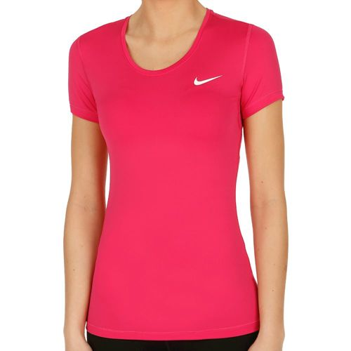 Nike Pro Dry Fit T-Shirt Women - Pink, White