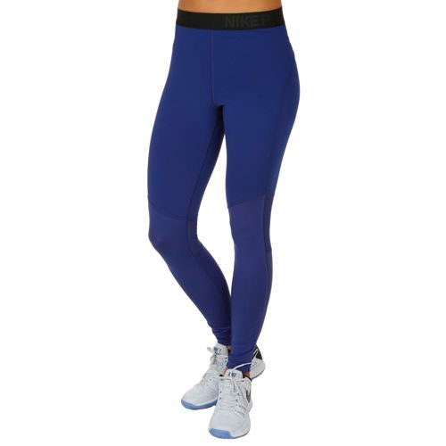 Nike Pro Dry Fit Hyperwarm Tight Training Pants Women - Dark Blue, Black