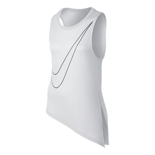 Nike Side Tie Top Tank Top Girls - White, Black