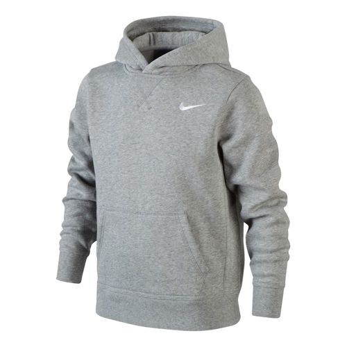 Nike YA76 Brushed Fleece Hoody Boys - Lightgrey, White
